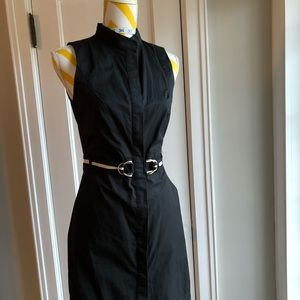 Black sleeveless shirtdress Zara size M
